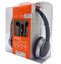 Moderner Entwurf und moderner Kopfhörer und Kopfhörer kombinierte verpacken2 in 1 Schwarzem