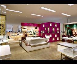 女性靴店ディスプレイラックシェルフ靴ショップデザイン