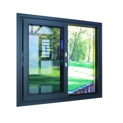 Janela metálica deslizante dupla/alumínio deslizante único Janelas para ventilação de edifícios/janelas deslizantes/para cima Slide/Apartamento/janela deslizante fixa