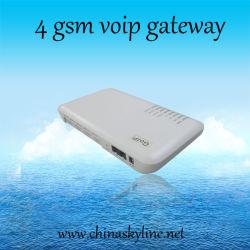 A passagem da G/M VoIP de 4 canaletas com 4 SIM carda /GoIP4 /ATA