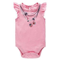 100%の有機性綿の袖なしの幼児の幼児の衣類
