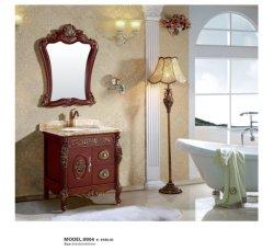 Estilo clássico no balcão de mármore económica Floor-Standing casa de banho em fibra de carbono armário de toucador com dissipador Flutuante
