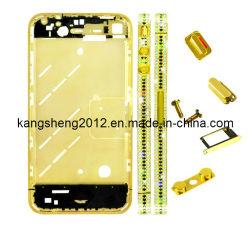 Diamond средней пластины лицевой панели корпуса для iPhone 4 (золотистый цвет) (KS-DMP-4035)