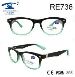 Unisex Gradiednt Matte Plastic Slim Leeslerbril (Re736)