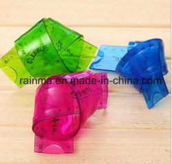 뜨거운 판매 30cm 투명 PVC 연성 줄자 연성 플라스틱 줄자