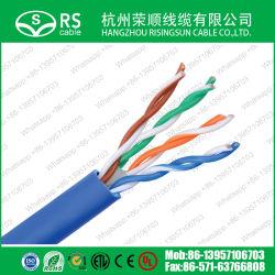 Синий кабель UTP категории 6 U/23 AWG 4 пары кабеля ЛВС с пройти проверку датчика СЛР