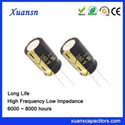 Größe 5*11 der elektrolytischer Kondensator-langen Lebensdauer-1UF160V