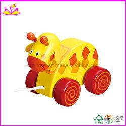 Carro Pull Animal em Madeira para Bebê (W05B040)