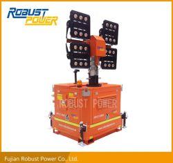 緊急の防水油圧高いマストDC LED軽いタワー