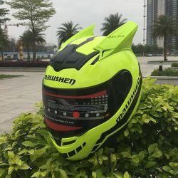 귀가 있는 패셔너블한 전문자반 오토바이 오토바이 헬멧
