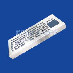 لوحة مفاتيح معدنية متينة بنمط سطح المكتب مع لوحة لمس ومفاتيح وظائف