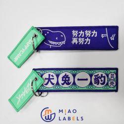 Acessórios de vestuário porta-chaves entrançadas em poliéster para ofertas/Artesanato/promocionais/sacos com Anel metálico