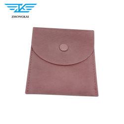 工場供給のボタンが付いている小さいリングのブレスレットのビロードの宝石類の袋
