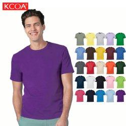 Personnalisation de promotion de haute qualité violet Tshirt col rond pour les hommes