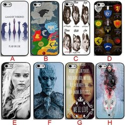 Jeu des trônes TV Show plus cool de protection en plastique dur noir Téléphone Mobile pour iPhone 4 Couvercle de carter de 4s 5 5s 5c 6 6s plus le cas de téléphone
