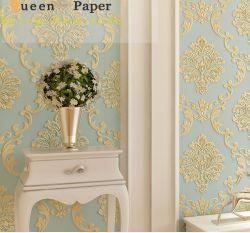 Salle de séjour de gros 3D de papier peint en vinyle pour la décoration Accueil