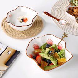 أطباق مبتكرة بسيطة وأدوات خزفية وأدوات مائدة منزلية لتحضير الطعام ملعقة الحوض رامين بوول ديسرت