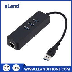 موزع USB 3.0 مع بطاقة LAN بمنفذ RJ45