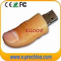 Палец из ПВХ флэш-накопитель USB, мягкий ПВХ диск забавные USB Flash диск 16 ГБ с USB