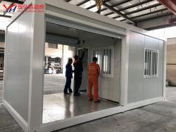 Casa do contêiner dobrável de alumínio do container de expedição do depósito a parte inferior dos painéis de mármore dormitório do contêiner