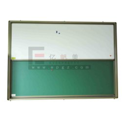 Schule Furniture Green und White Writing Sliding Magnetic Board