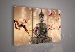 Décoration murale toile Art Religieux de Bouddha de peinture d'huile sur toile (BU-018)