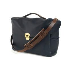 Nouvelle arrivée de bonne qualité en cuir bleu marine Appareil photo Nikon sacoche à bandoulière sac