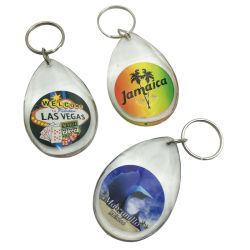 Llavero de plástico acrílico Diamond Drop Llavero Llavero para comprar souvenirs promoción