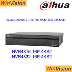NVR Dahua4832-16p-4KS2 32CH NVR Enregistreur vidéo réseau CCTV POE
