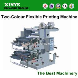 2つのカラーフレキソ印刷のプラスチックフィルムロール印刷機機械