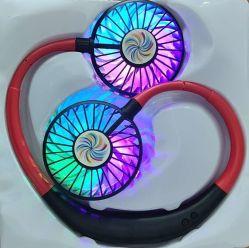 2020년 공장 착용할 수 있는 스포츠 팬 목 팬 USB 책임 색깔 Fashioable 빨강과 까만 팬