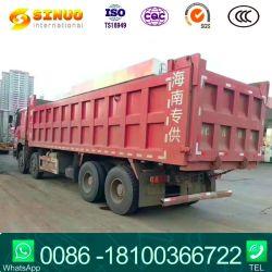 Utiliza las ruedas de 12 volquetes HOWO Sinotruk camiones volquete de segunda mano 50 mil toneladas de camiones pesados 8X4 7,6M Euro 5 Carga mejor condición competitivo Precio Venta caliente