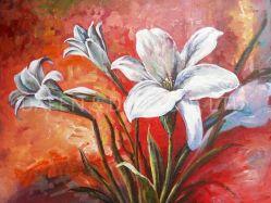 Notas florais de 2019 Novo Design (ADC7682) artesanal de pintura a óleo Wall Arte Decorativa