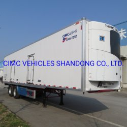 Cimc 고기 수송을%s 2개의 차축 고기에 의하여 냉장되는 세미트레일러