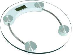 Le verre trempé de 8 mm Échelle numérique de la plate-forme Salle de bains