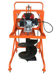 De krachtige hand-Duw Gravende Machine/Avegaar van de Aarde met de Luchtgekoelde Dieselmotor van de enig-Cilinder
