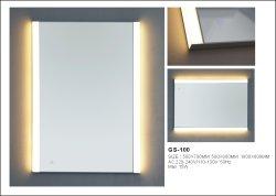 Retângulo Prata acrílico a decoração da casa de banho LED Espelho Futniture