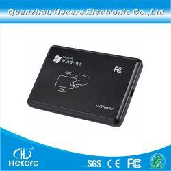 Desktop barata 13.56MHz USB inteligente Leitor e gravador de cartão RFID HF