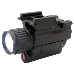 يرصّ مسدّس مدفع يعلى [لد] مشعل مصباح كهربائيّ تكتيكيّ مع ليزر أحمر
