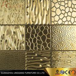 Из полированного металла золотого миниатюры мозаики из нержавеющей стали