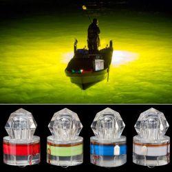 Cebo de pesca submarina de LED de pesca del calamar de diamantes de la luz