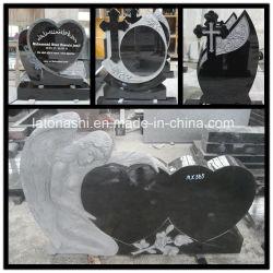 La sculpture personnalisée Noir/Blanc/granit/monument en marbre de cimetière/Memorial