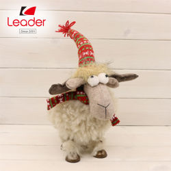 Figurine di cucito delle pecore del tessuto della peluche di vendite del giocattolo caldo di natale