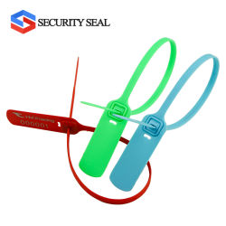 B0024 Pull Tight Plastic Seal Factory Custom Printing High Security Plastic afdichting met metalen inzetstuk