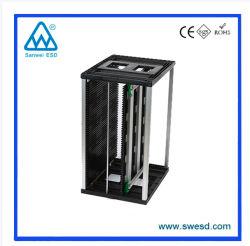 基板コンテナホルダー用プラスチックトップ / ボトム ESD PCB ラックプラスチックマガジンラック