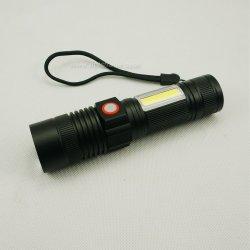 Pilha recarregável USB de Alta Potência lanterna LED com luz de inundação