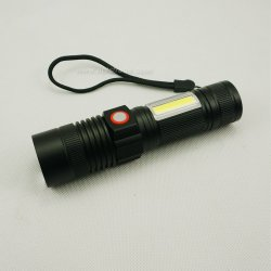USBの洪水ライトが付いている再充電可能な高い発電LEDの懐中電燈