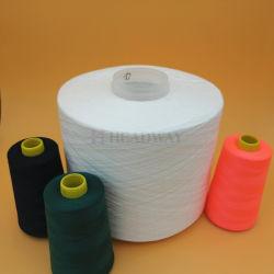 100% de fibras de poliéster bonderizado matérias-White 20S/2 fornecedor de matérias têxteis