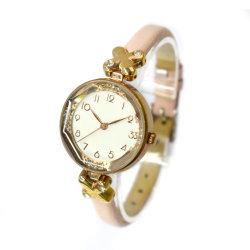 Custom Uhren Edelstahl Schwarz Schmuck Lady Handgelenkuhr (cm19065)