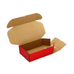 Logo personnalisé imprimé à l'emballage en carton ondulé de pliage expédition Mailer cadeau cosmétiques boîte à chaussures pour les vêtements parfum gâteau de fleur d'aliments